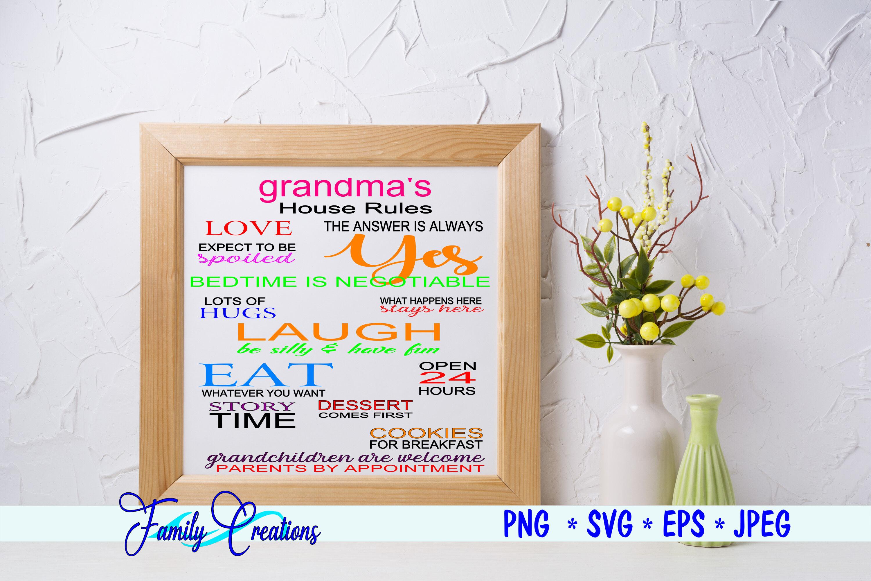 Grandma S House Rules By Family Creations Thehungryjpeg Com