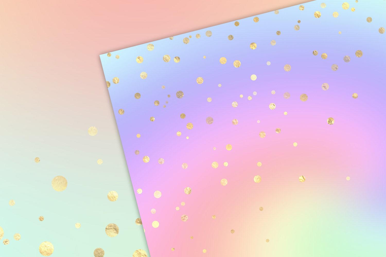 Rainbow Pastel Confetti Backgrounds By Digital Curio