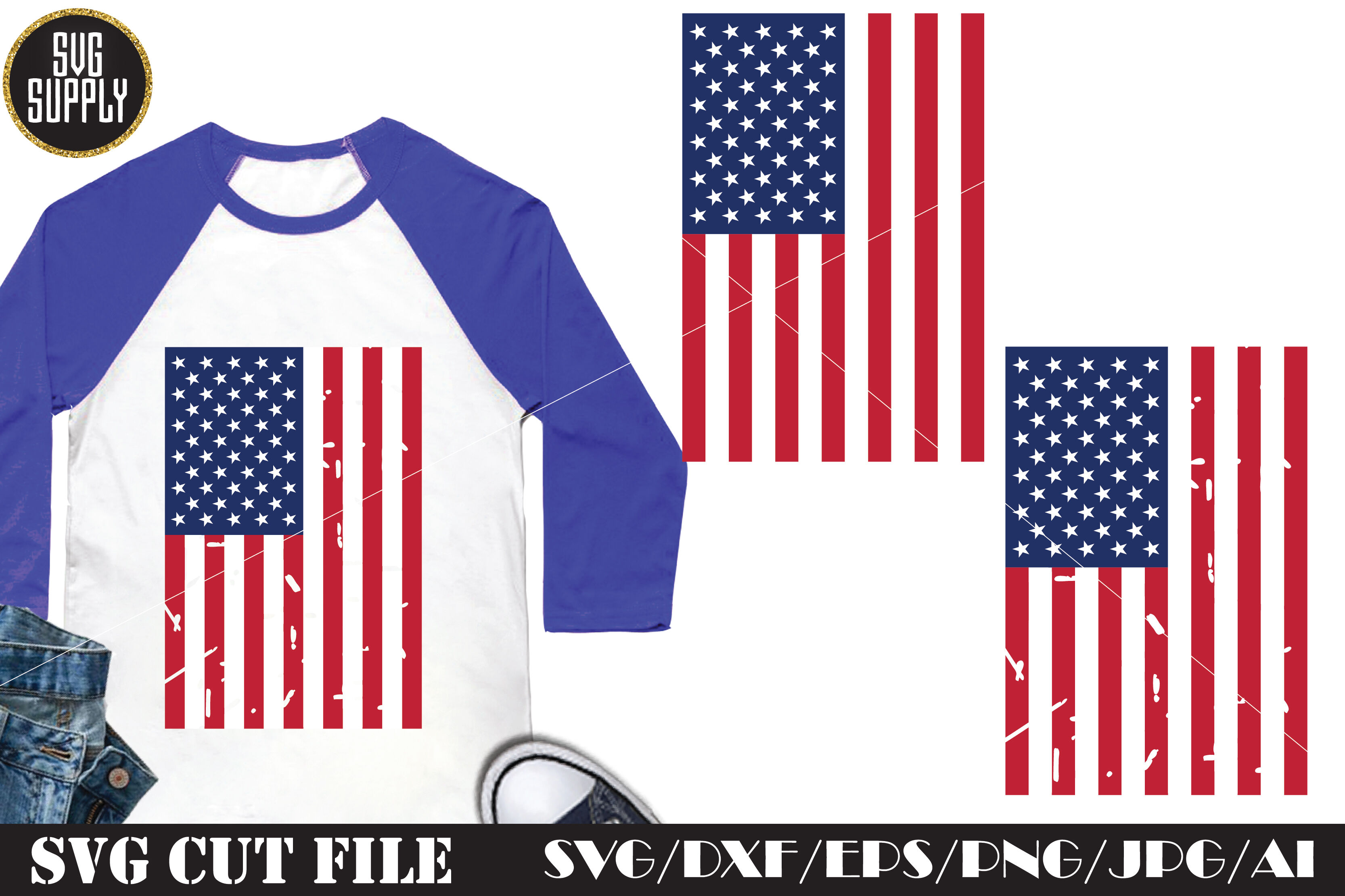 American Flag Distressed Svg Cut File By Svgsupply Thehungryjpeg Com