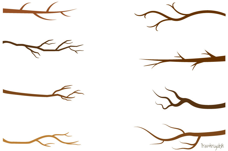 Tree branch clipart, Green leaf branches clip art, Bare ...