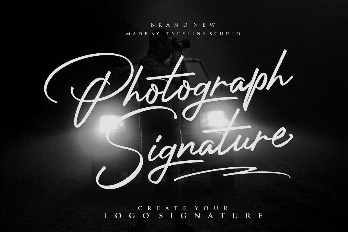 Photograph Signature Logo Fonts By Typelinestudio Thehungryjpeg Com