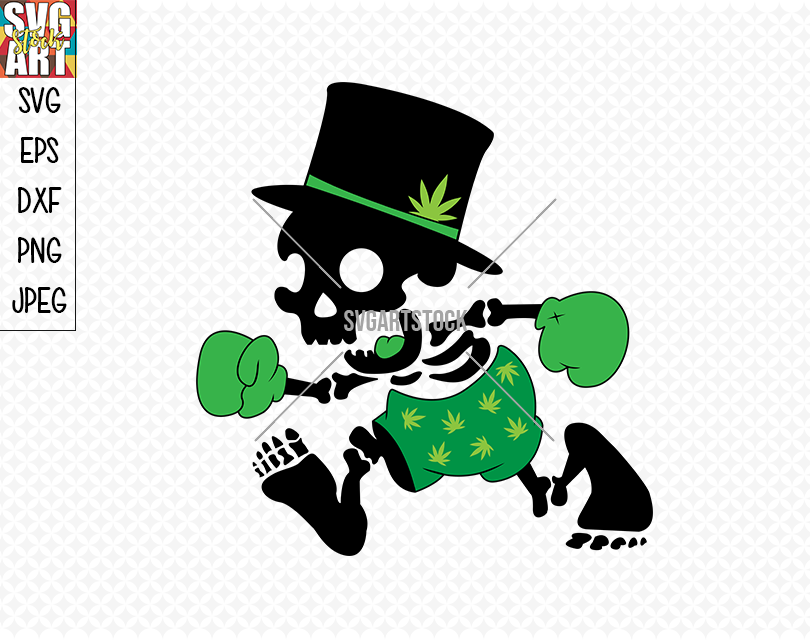 Weed Skull By Svg Art Stock Thehungryjpeg Com