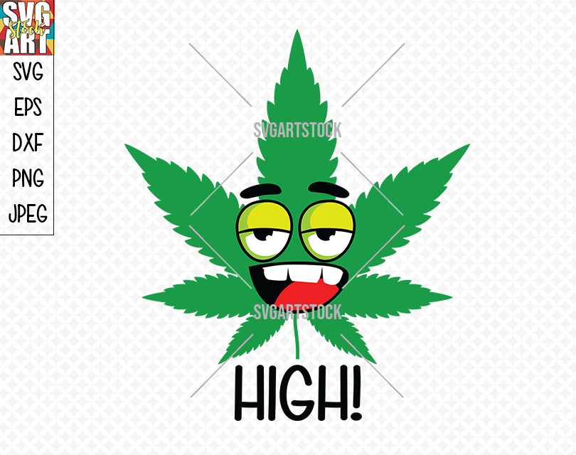 High Weed Smiley By Svg Art Stock Thehungryjpeg Com