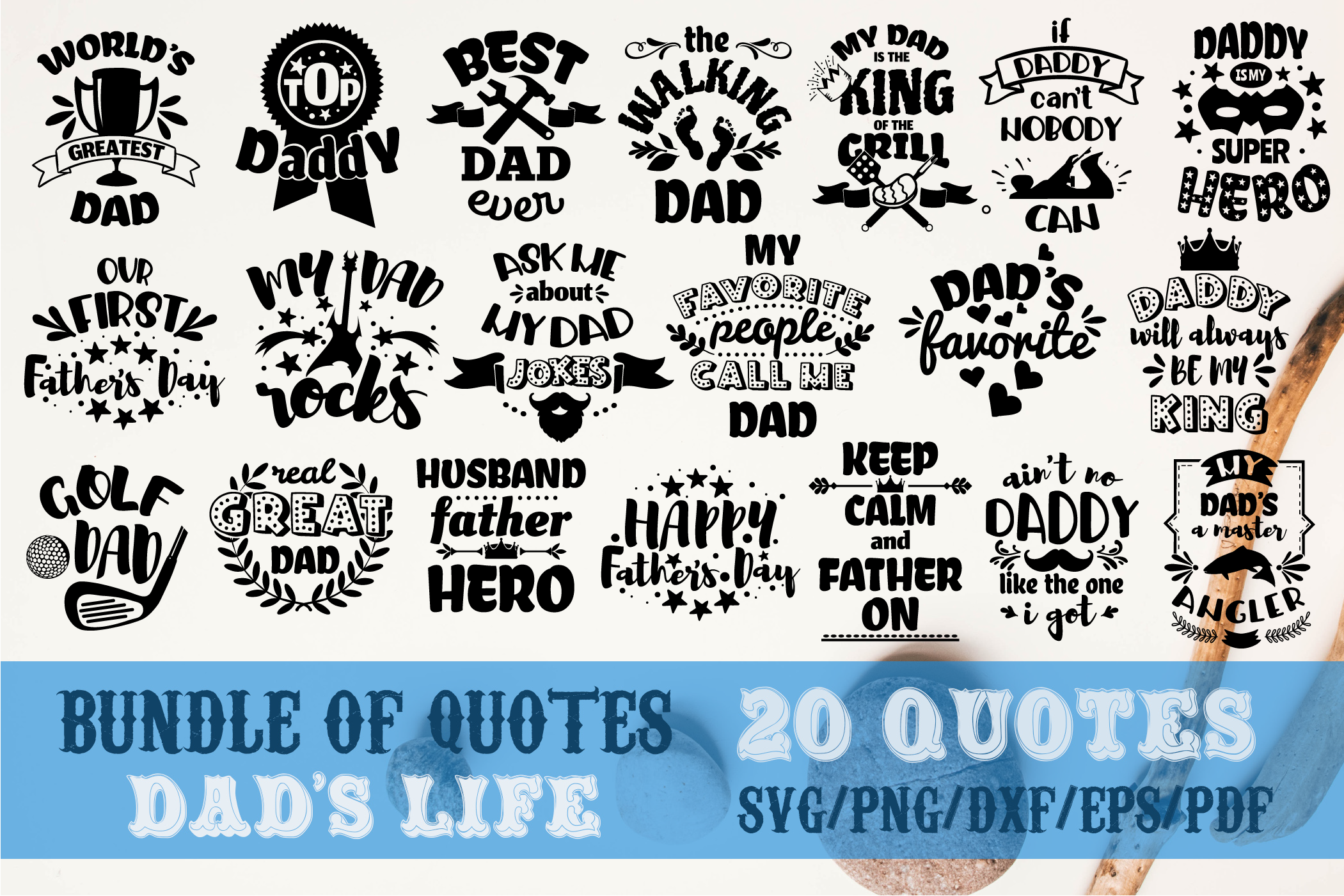 Dad S Life Bundle Father S Bundle Daddy By Svg Story
