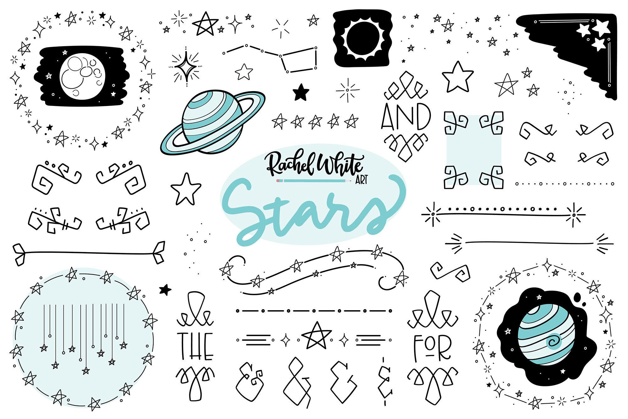 Stars Vector Png Svg By Rachel White Art Thehungryjpeg Com