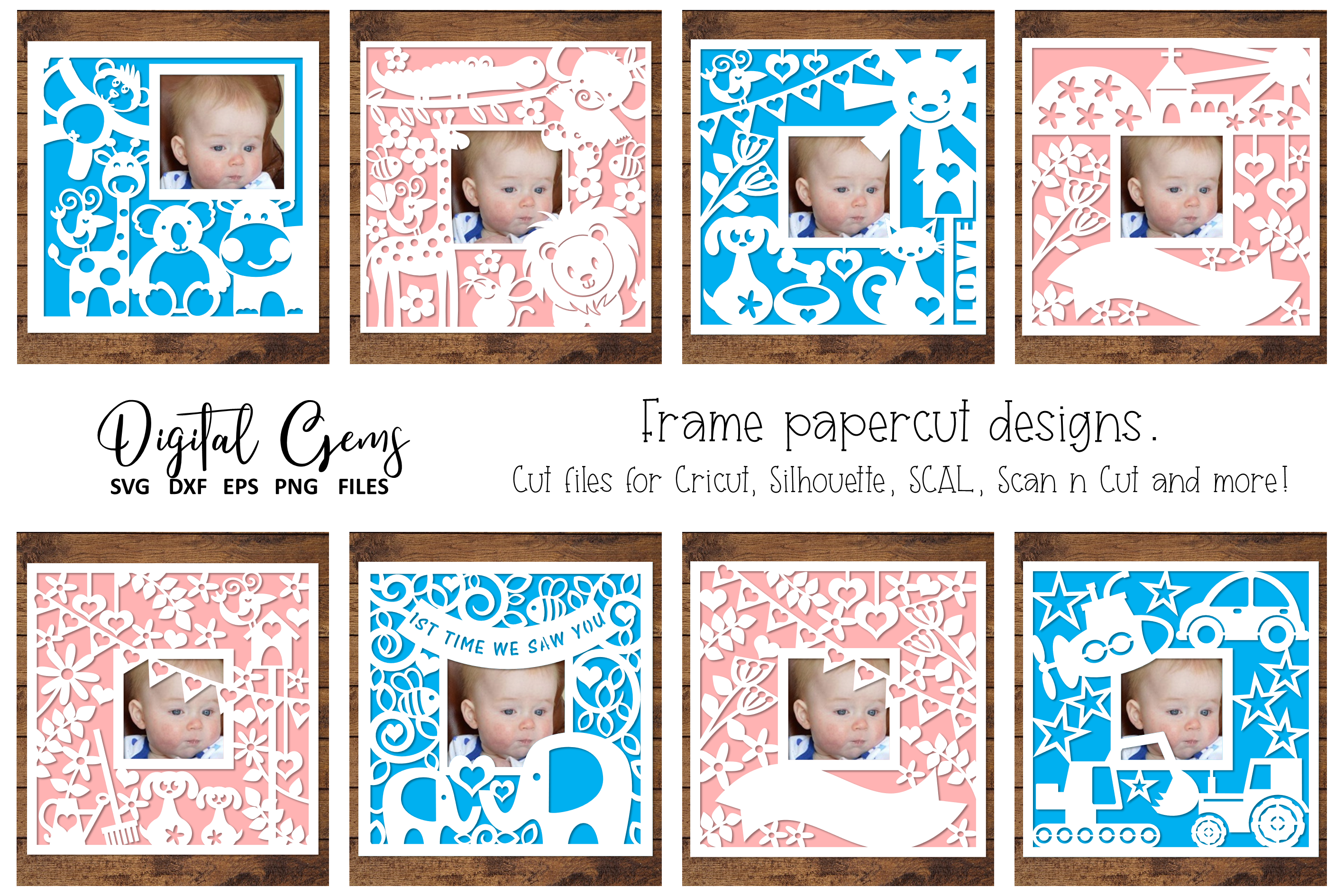 Frame Paper Cut Design Bundle By Digital Gems Thehungryjpeg Com