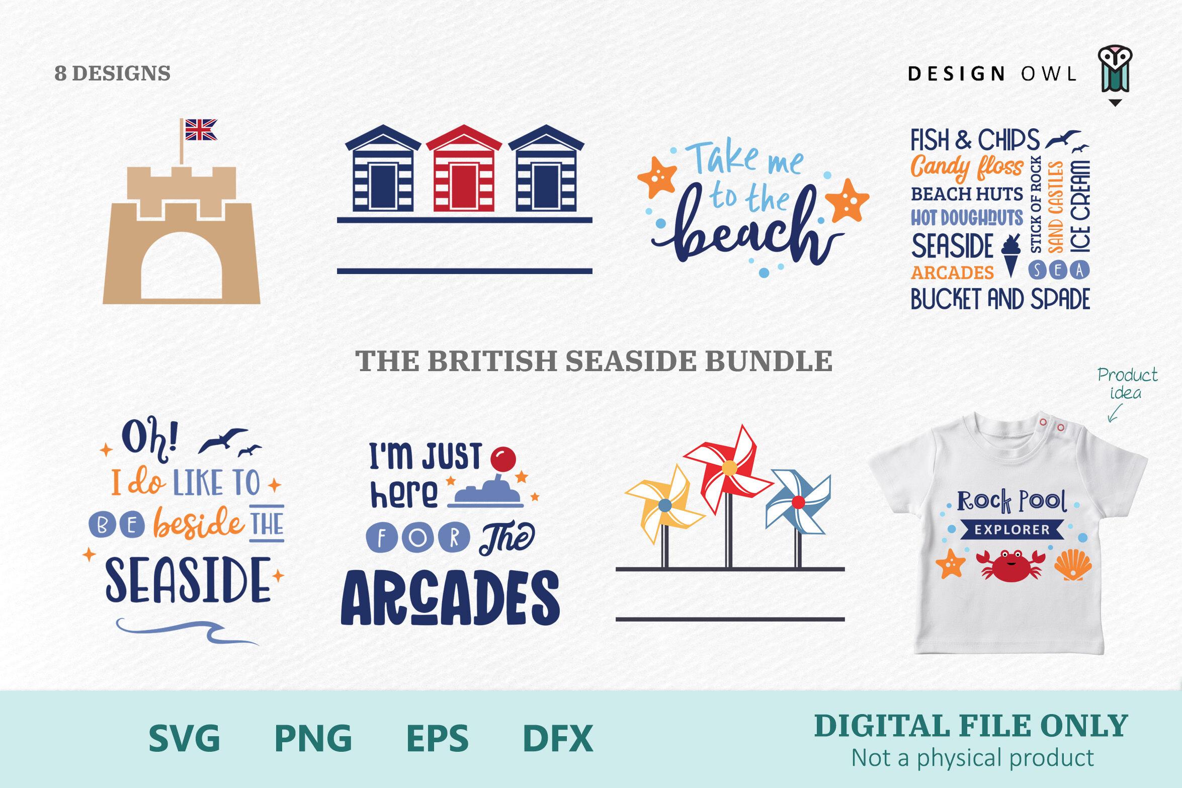 The British Seaside Bundle Svg Bundle By Design Owl