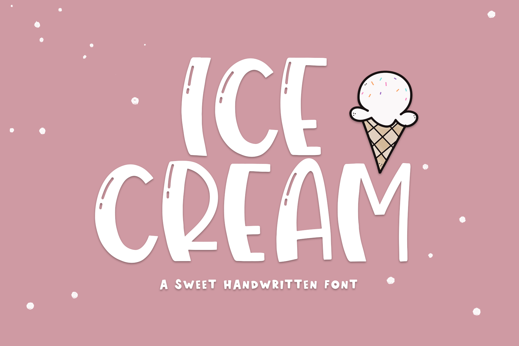 Ice Cream A Quirky Handwritten Font By Ka Designs