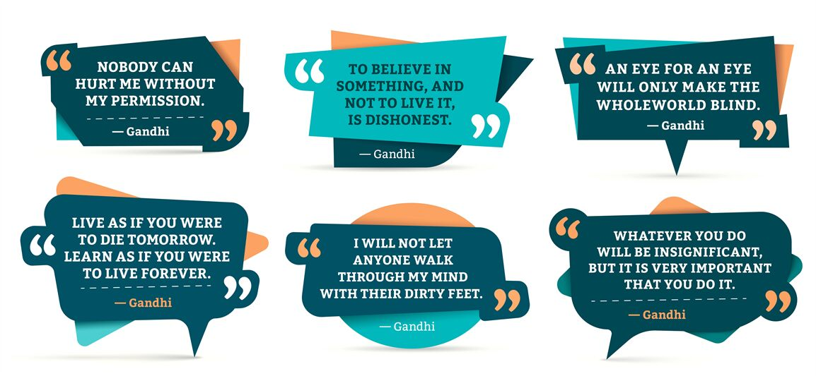 Quote Remark Frames Gandhi Quotation Quotes Frame And Mention
