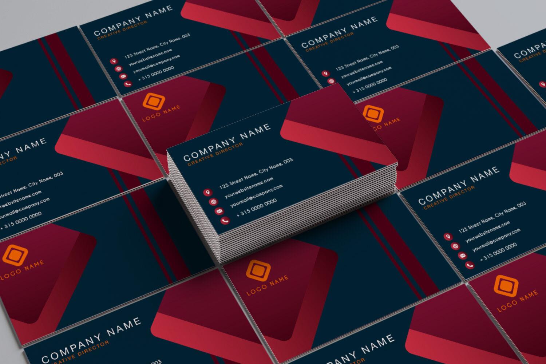modern business card templatentc graphic