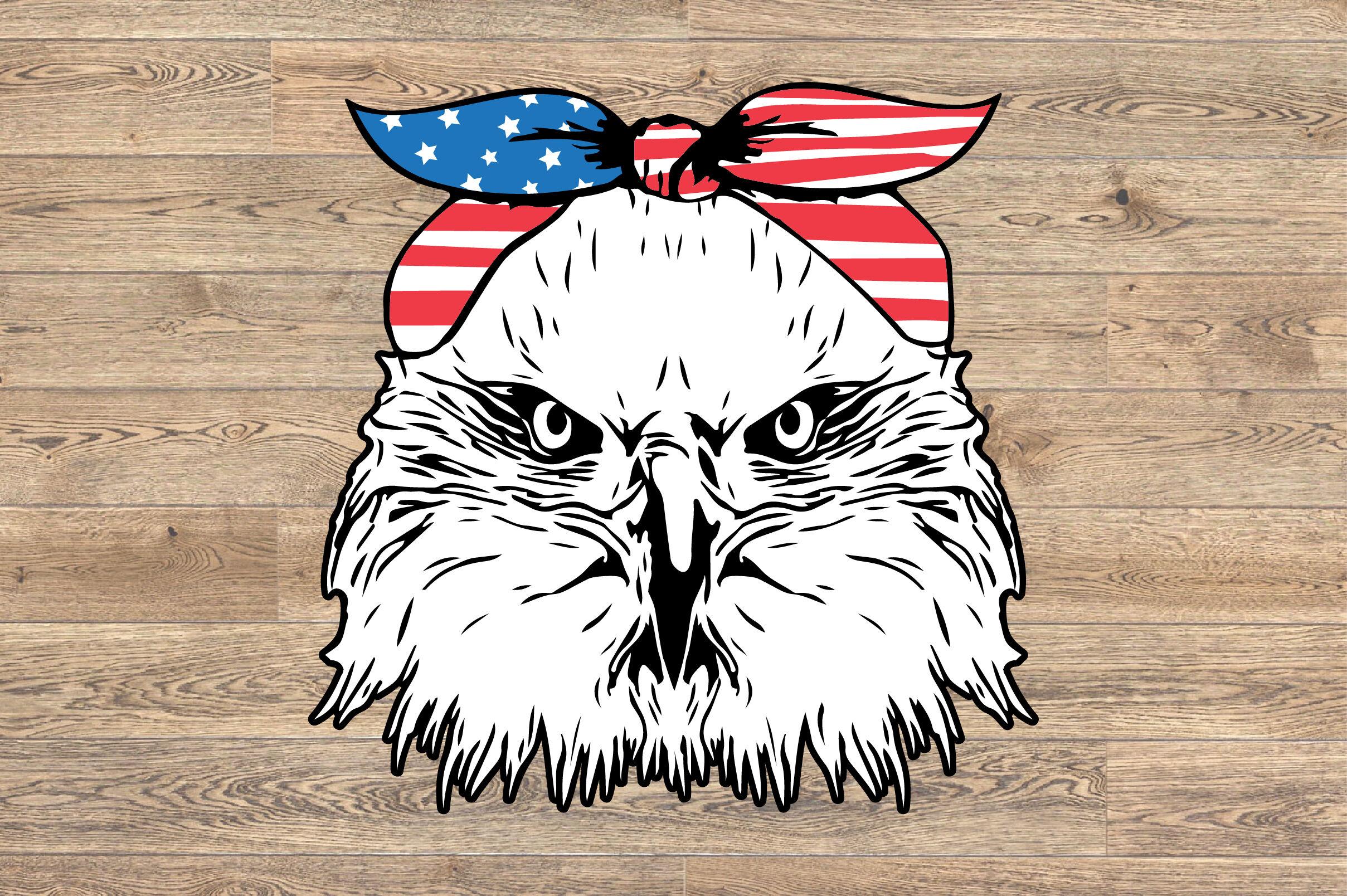 Eagle Usa Flag Bandana Svg Files Usa Flag Svg Design Eagle 1436 By