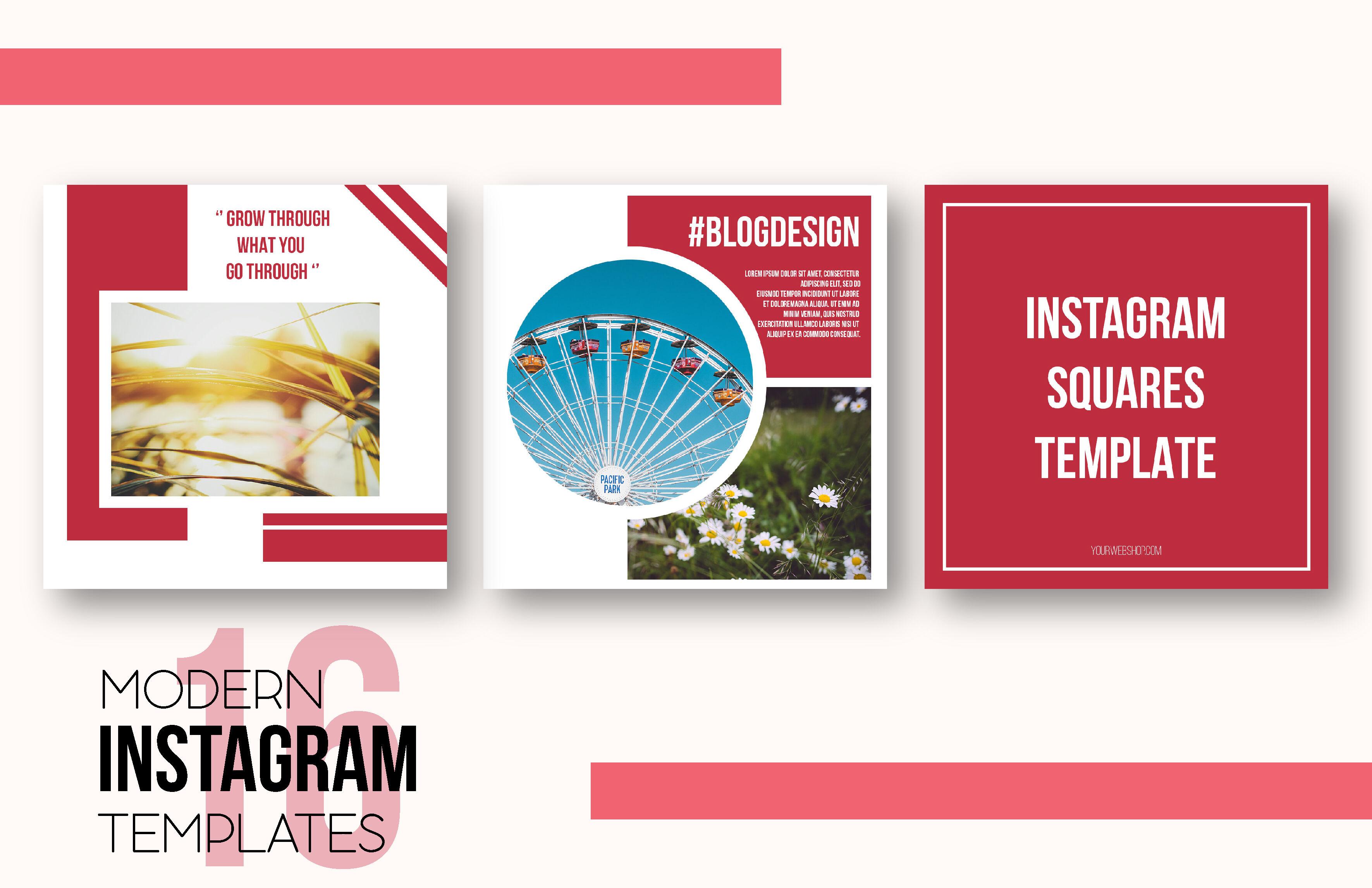 Instagram Post Templates Pack By Irina Daniluyk Thehungryjpeg Com