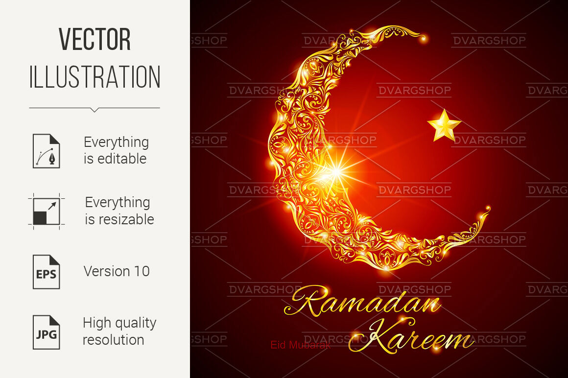 ramadan kareem greeting carddvargshop  thehungryjpeg