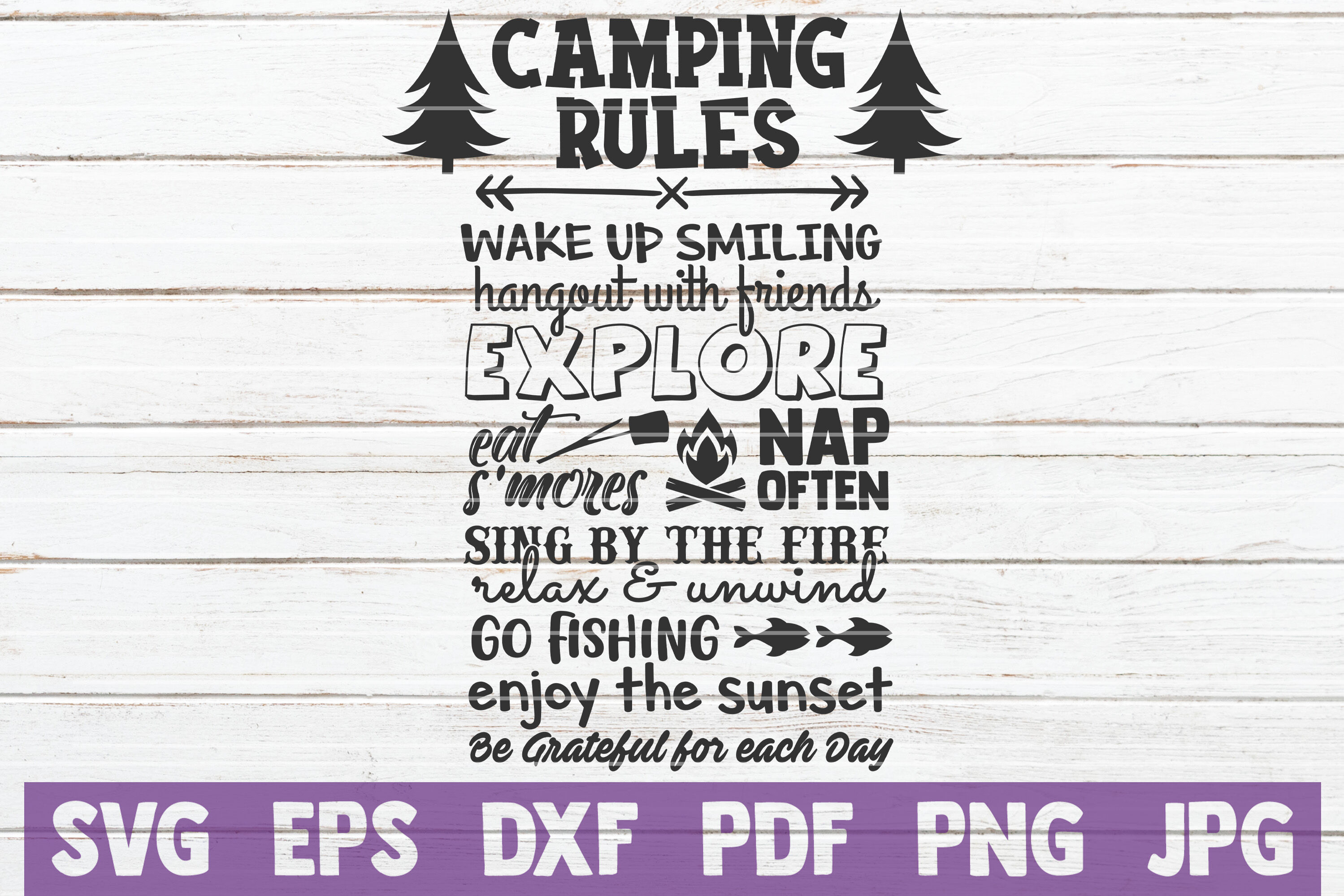 Camping Rules Svg Cut File By Mintymarshmallows Thehungryjpeg Com