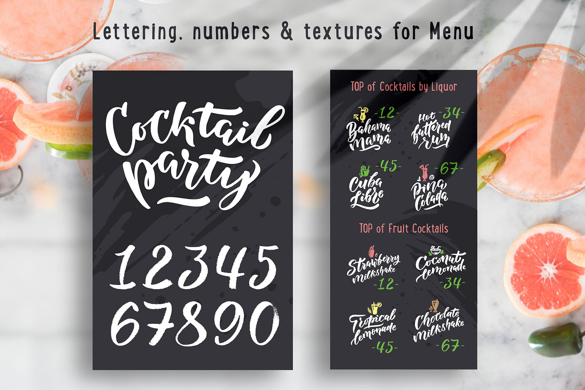 Cocktails Bar Lettering Clipart By Lettering Logo