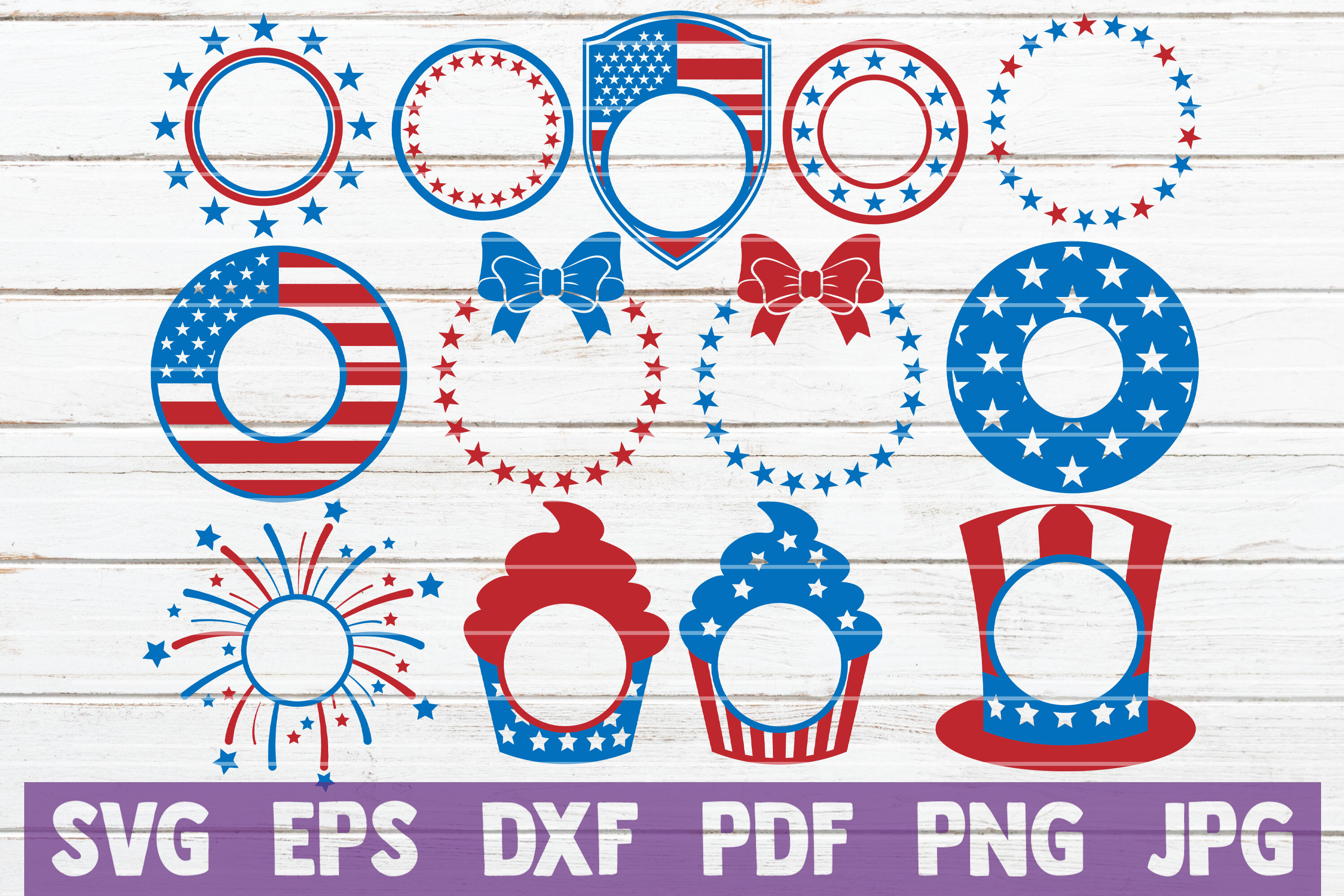 4th Of July Monograms Bundle Svg Cut Files By