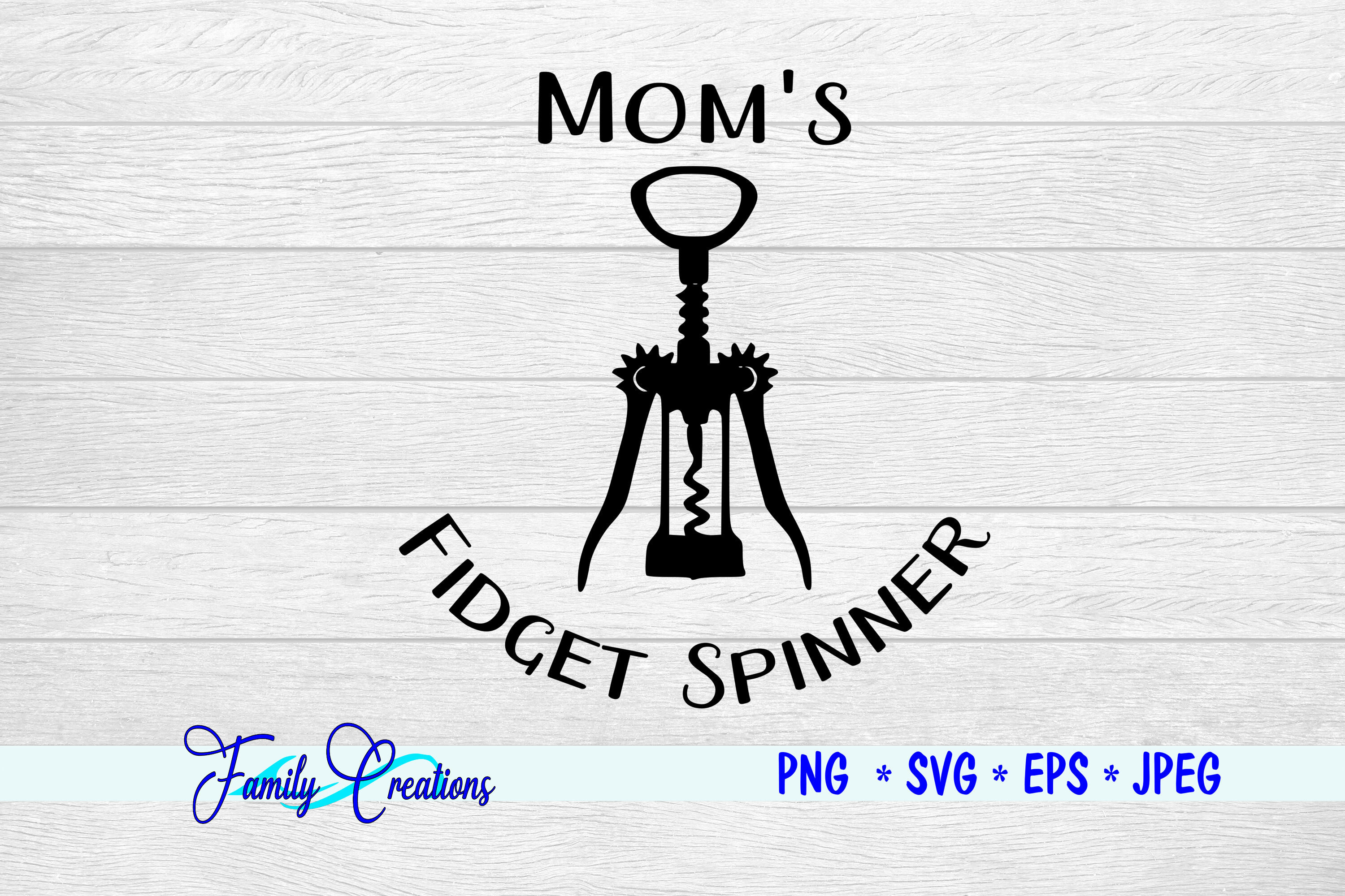 Mom S Fidget Spinner By Family Creations Thehungryjpeg Com