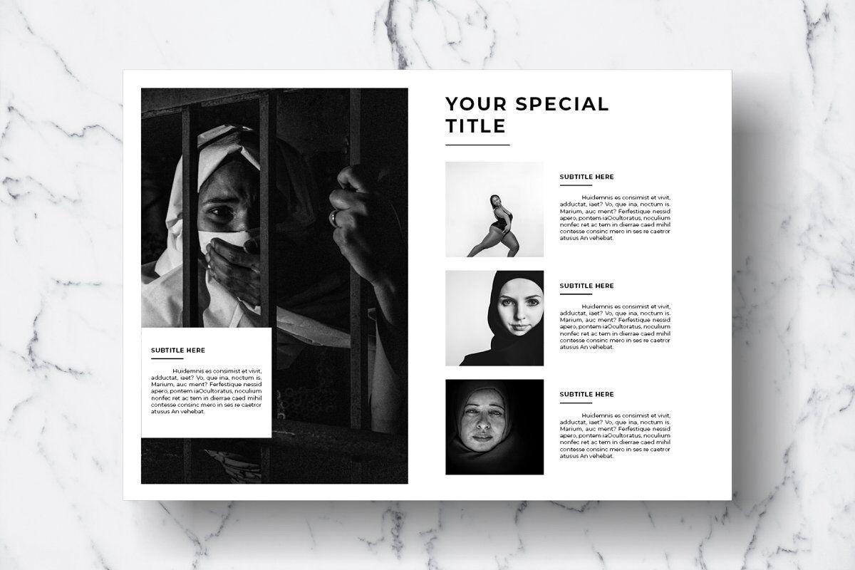 Magazine Template Vol. 12 By DuaTiga | TheHungryJPEG.com