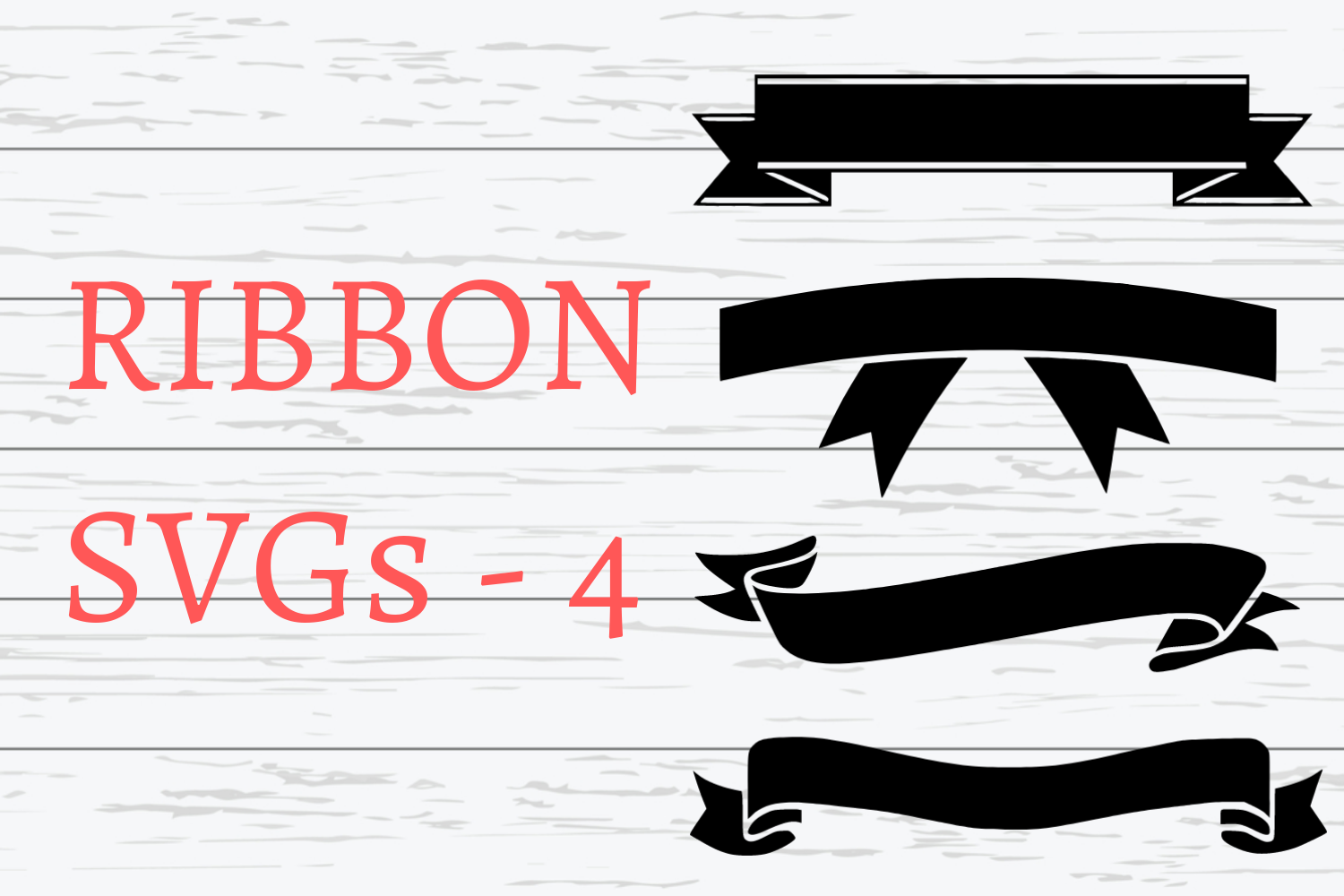 Ribbon Svgs 4 Different Ribbon Svgs By Mockupvenue Thehungryjpeg Com