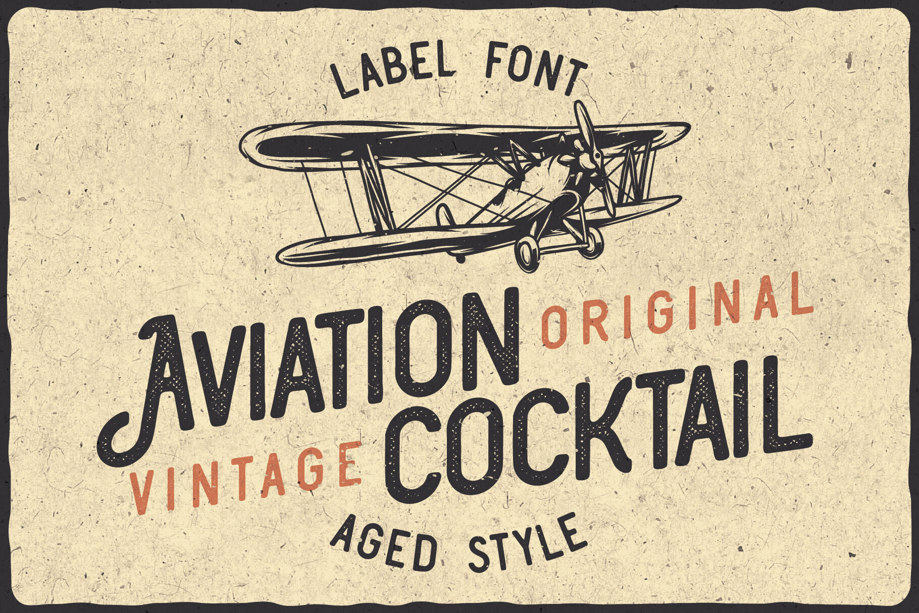 Aviation Cocktail Font Bonus By Vozzy Vintage Fonts And Graphics