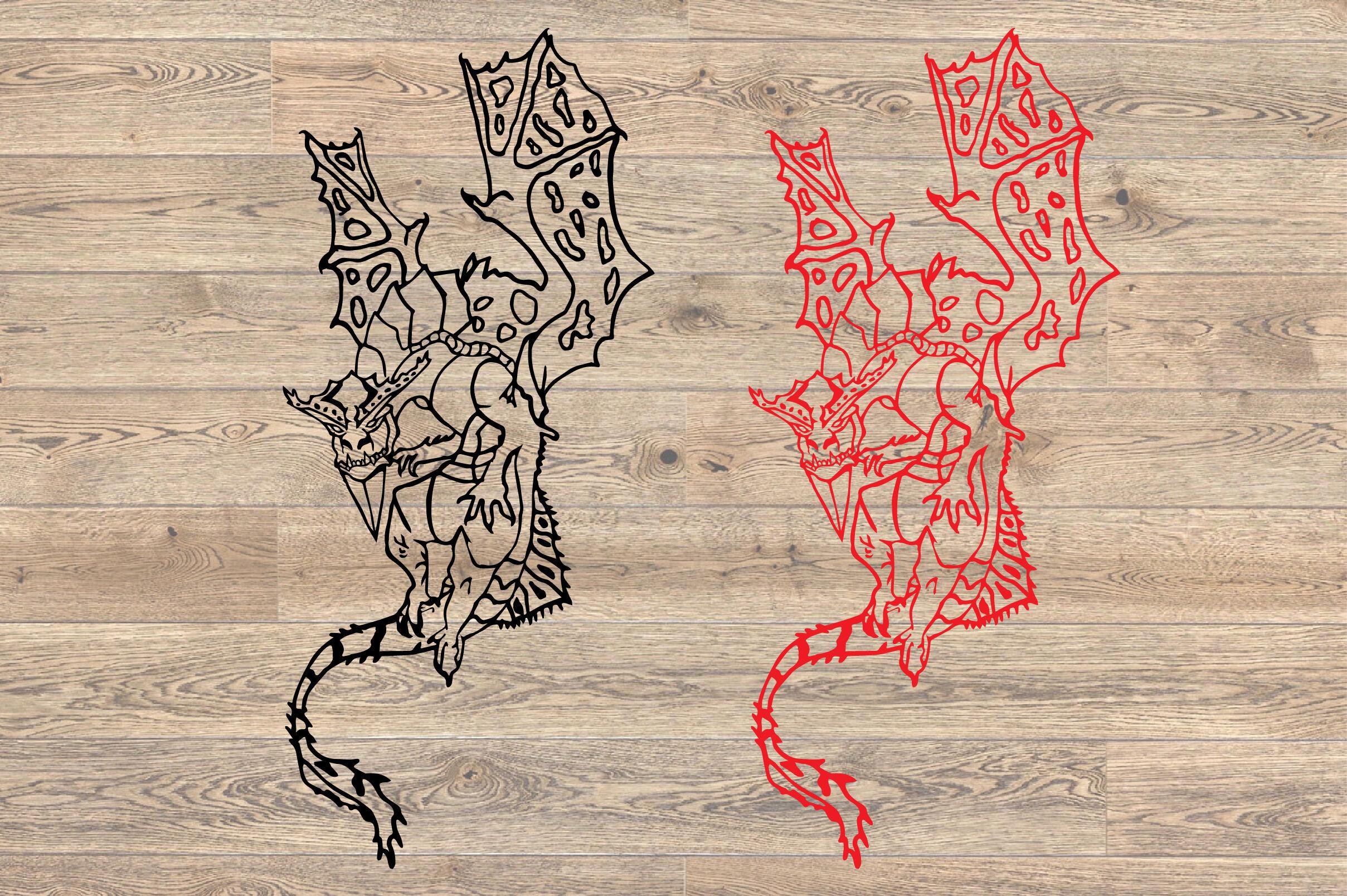 Dragon Whit Wings Svg Dragons Tattoo Tribal Dinosaur Animal 1440s