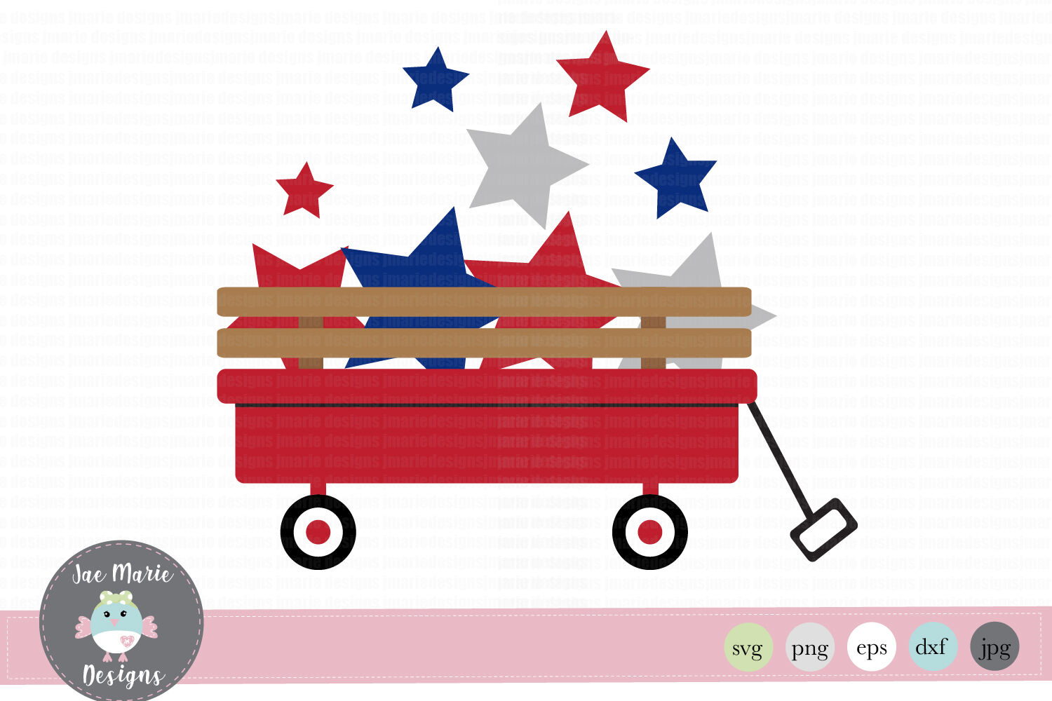 4th Of July Svg Red Wagon Svg American Svg By Jae Marie Digital