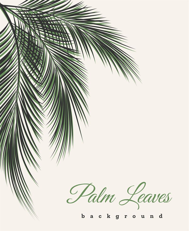 Palm Leaves Vintage Background By Vectortatu Thehungryjpeg Com