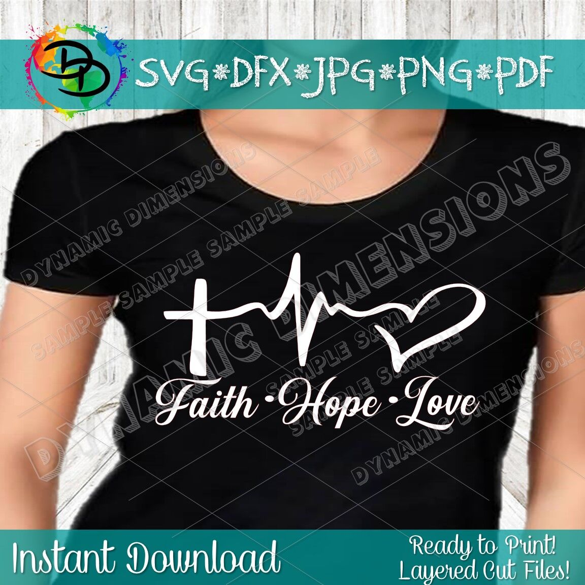 Faith Svg Christian Svg Religious Svg Faith Hope Love Heartbeat