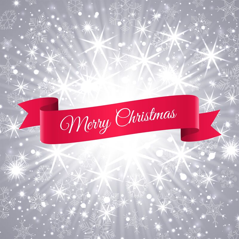 Merry Christmas Banner With Snowflakes Background By Vectortatu