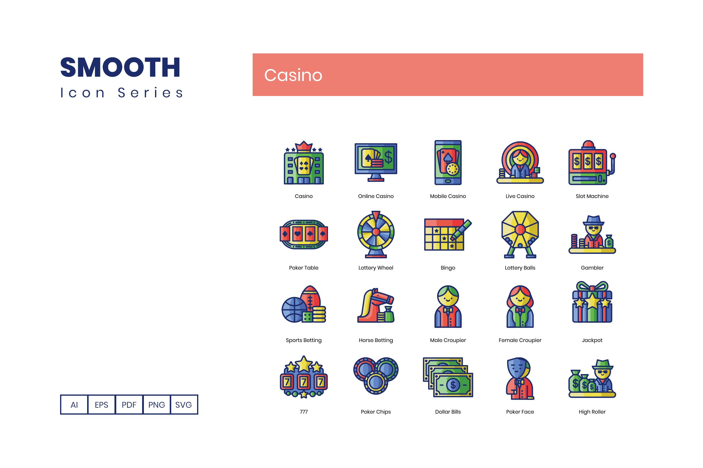 90 Gambling Casino Icons By Flat Icons Thehungryjpeg Com