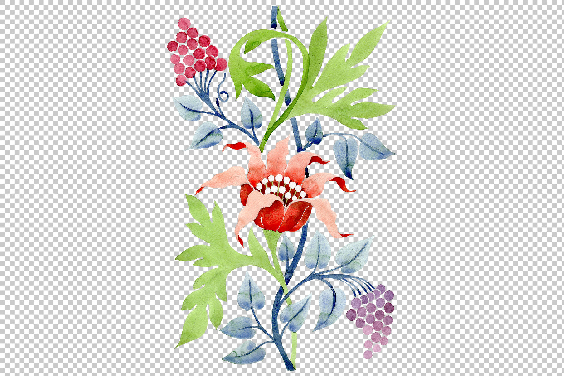 Ornament Flower Aromas Of Nature Watercolor Png By Mystocks