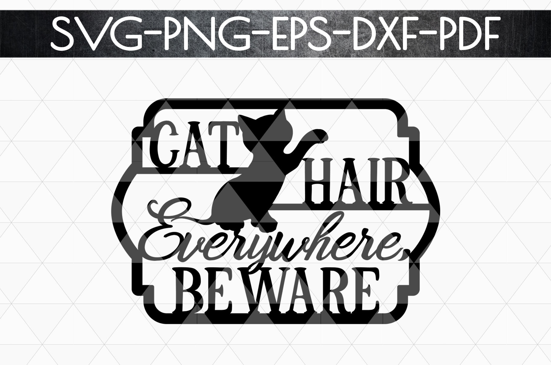 Cat Lover Papercut Template Cat House Decor Svg Dxf By Mulia