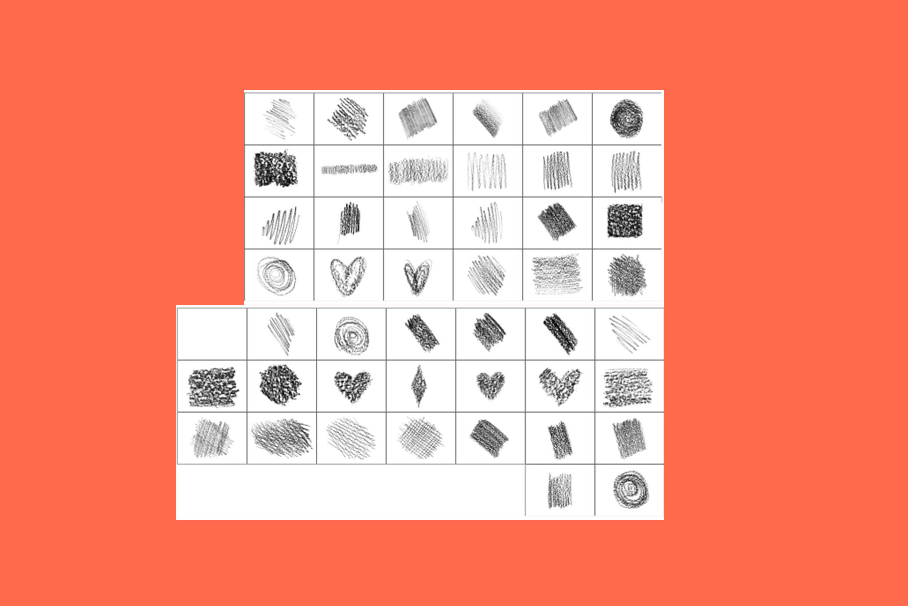 Pencil BRUSH collection for PS Photoshop ABR By MY