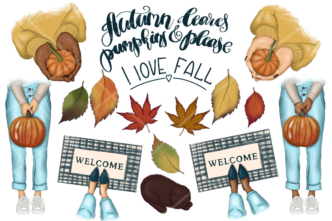 Falling Into Fall Clipart & Patterns By Tanya Kart ...