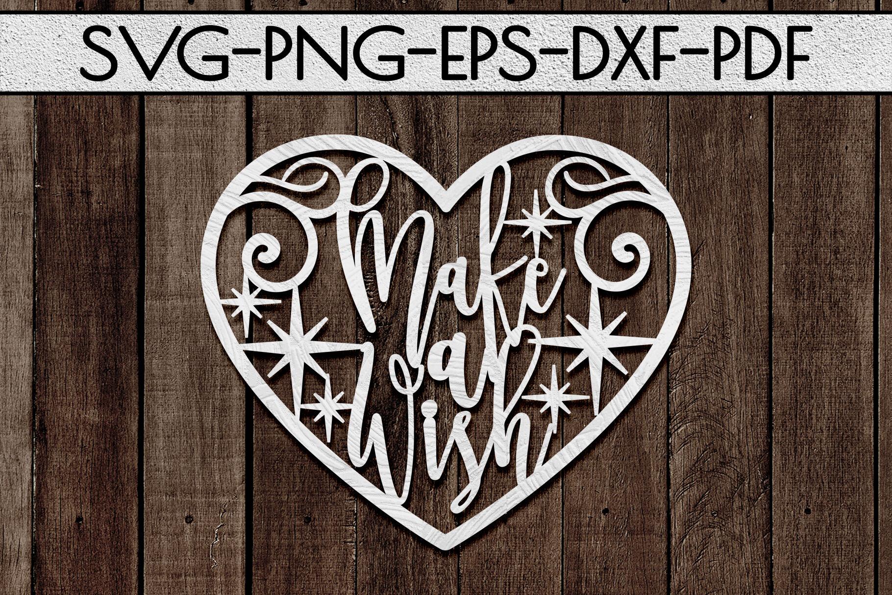 PDF Make A Wish Cut File SVG png.