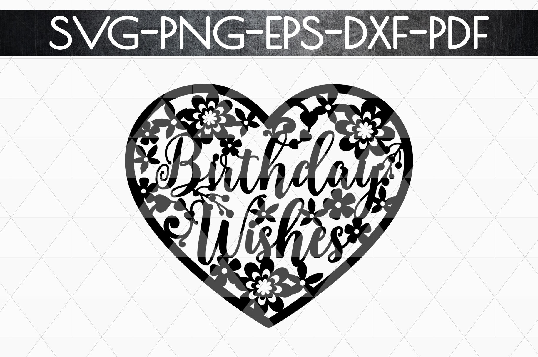 Birthday Wishes Papercut Template Birthday Decor Svg Pdf By