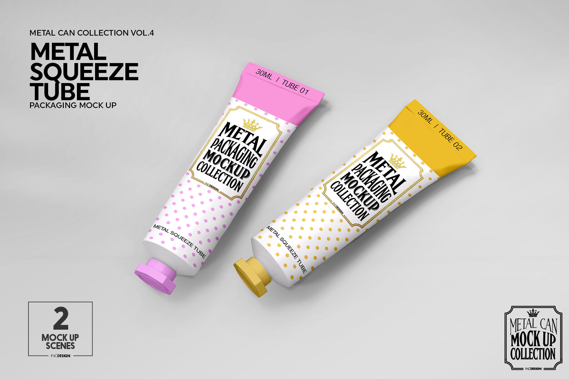 Download Glossy Snack Tube Mockup Front View Yellowimages