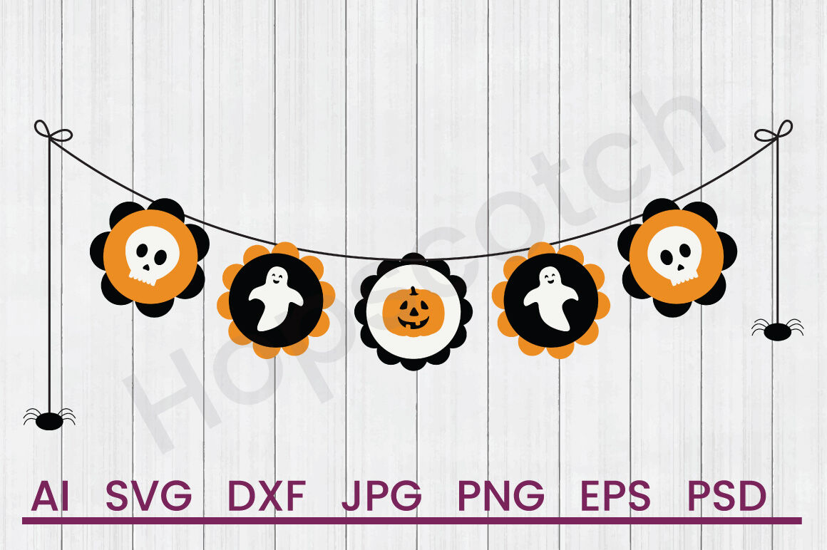 Halloween Banner Svg File Dxf File By Hopscotch Designs