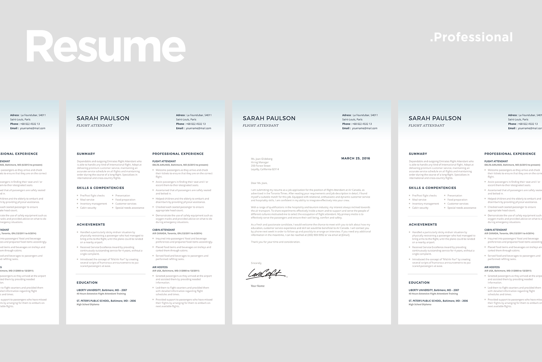 Resume Template match With Cover Letter By ariodsgn ...