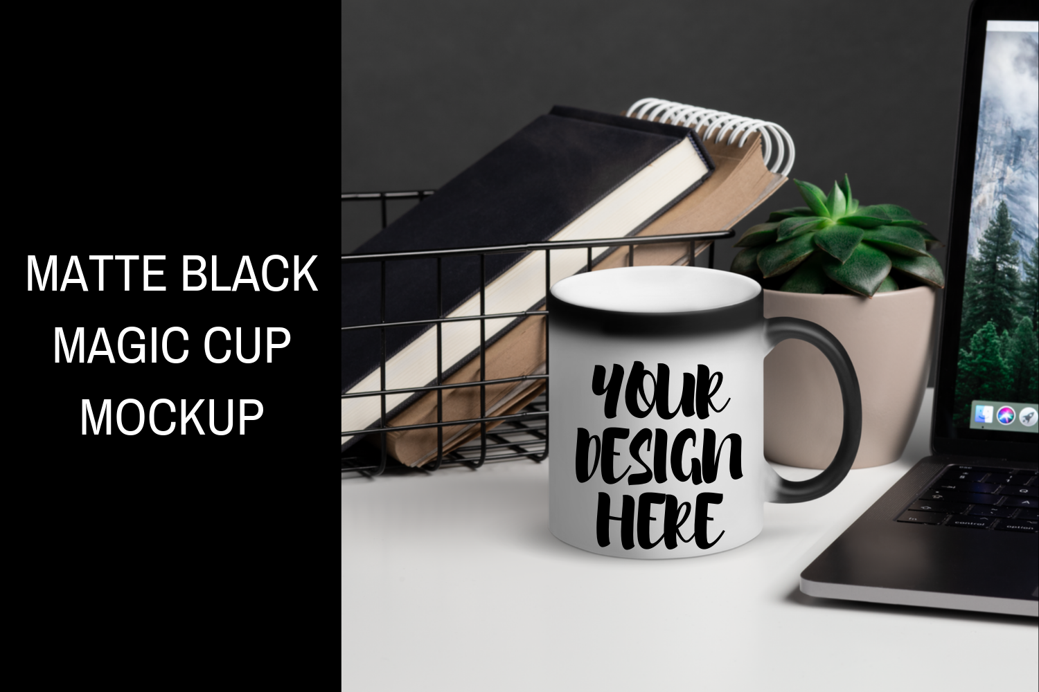 Download Three Matte Cups Mockup Yellowimages