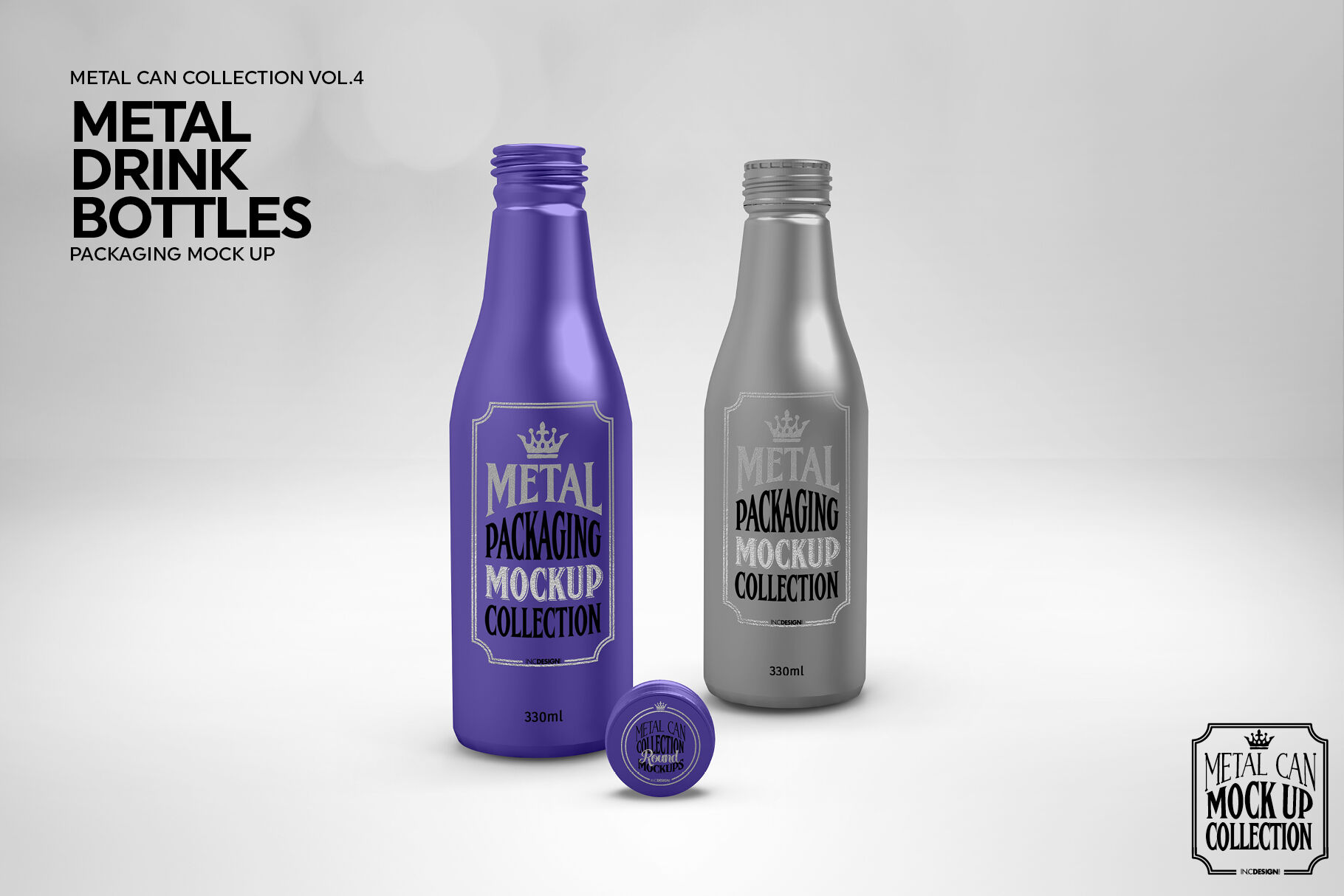 Download Clear Glass Bottle With Blue Liqour Mockup Yellowimages