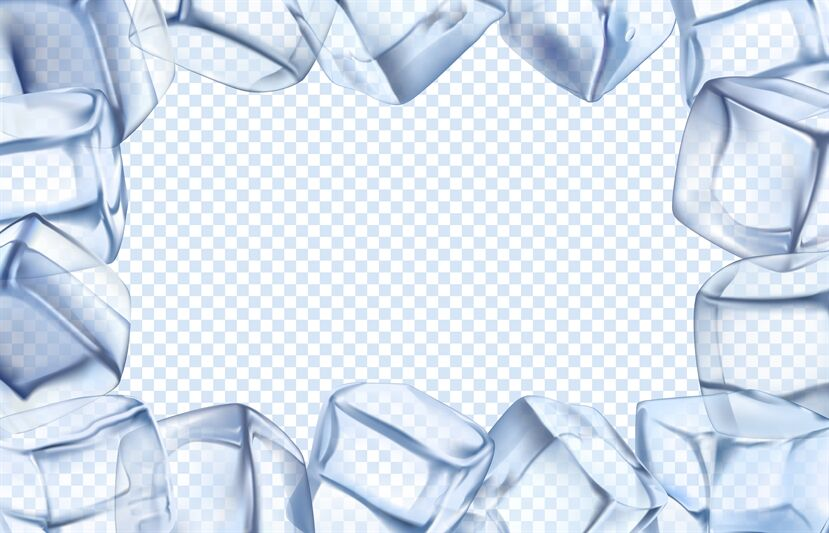 Ice Cubes Frame Chill Border Icy Cold Cube And Iced Rectangular