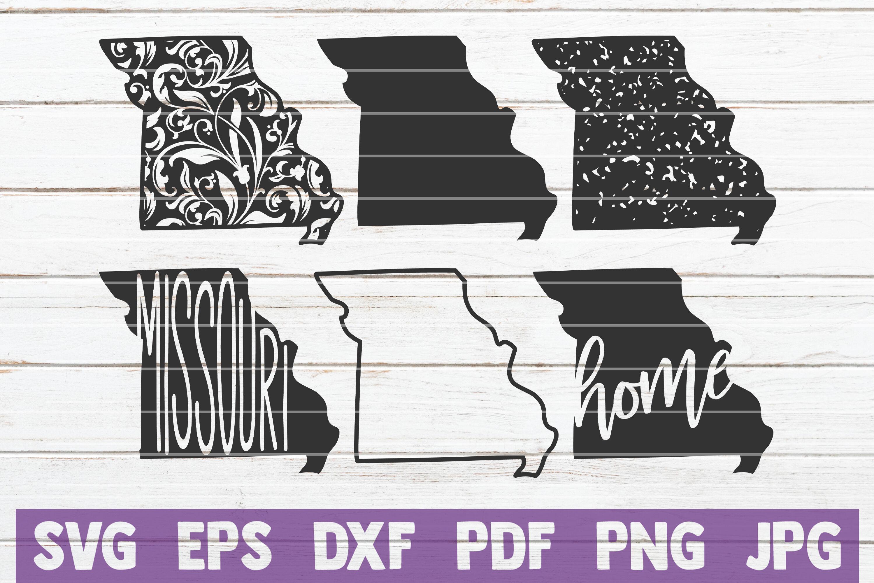 Grunge SVG Cut Files Floral Missouri State commercial use printable vector clip art instant download Missouri State SVG Bundle