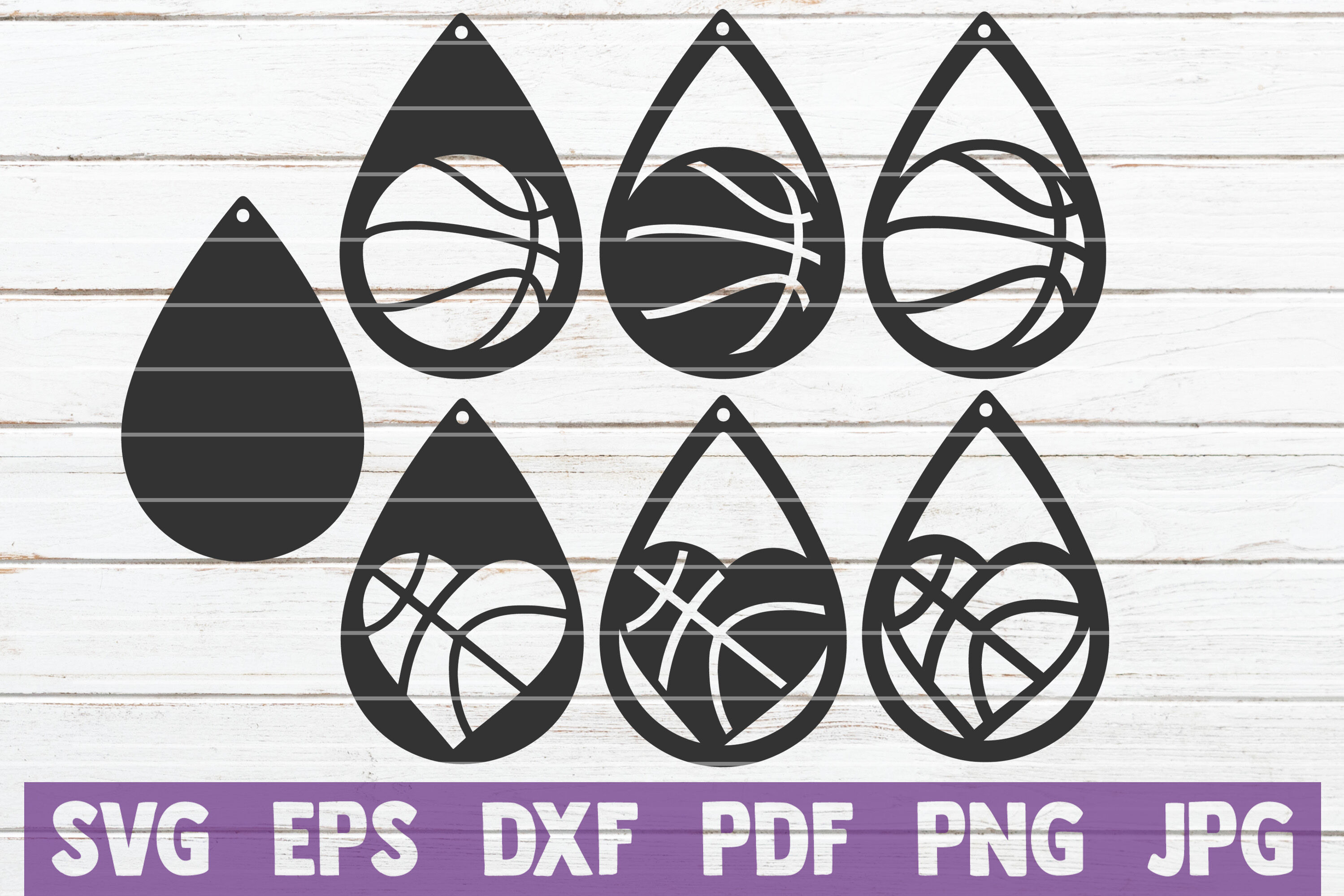 Basketball Earring Svg Cut File Templates By Mintymarshmallows