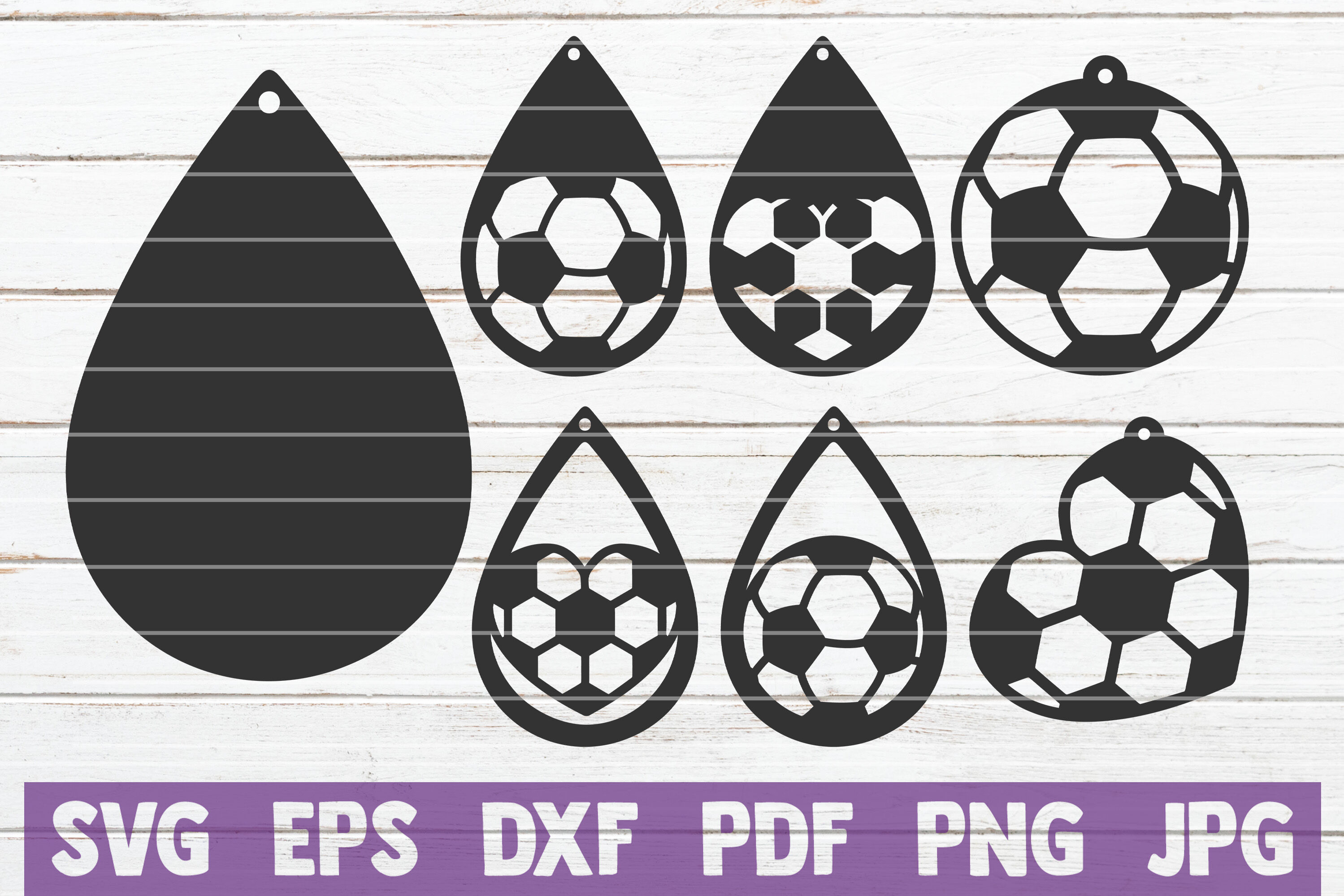 Soccer Earrings Svg Cut File Templates By Mintymarshmallows