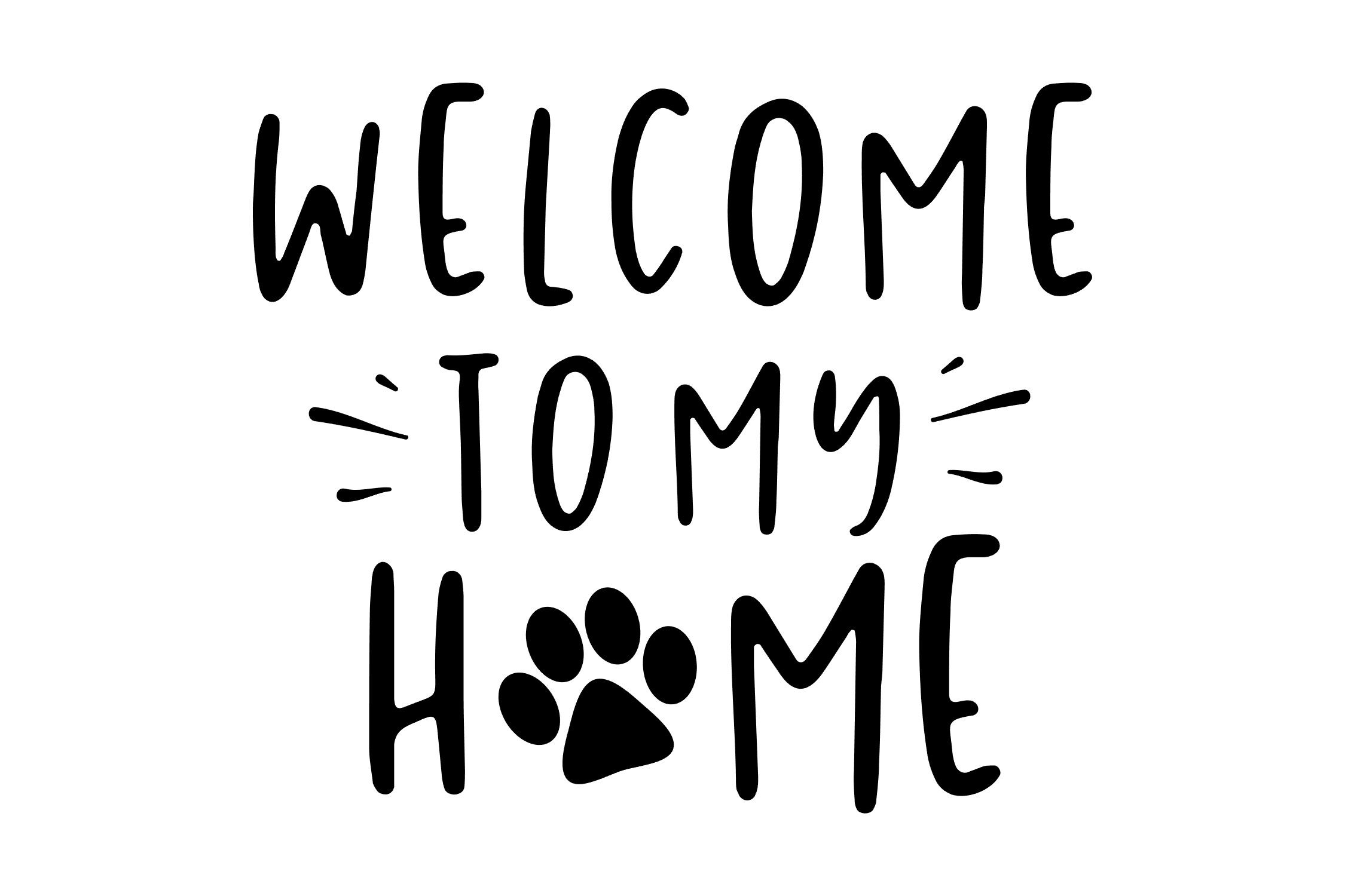 Welcome To My Home Dog Cat Svg Png Eps By Studio 26 Design Co