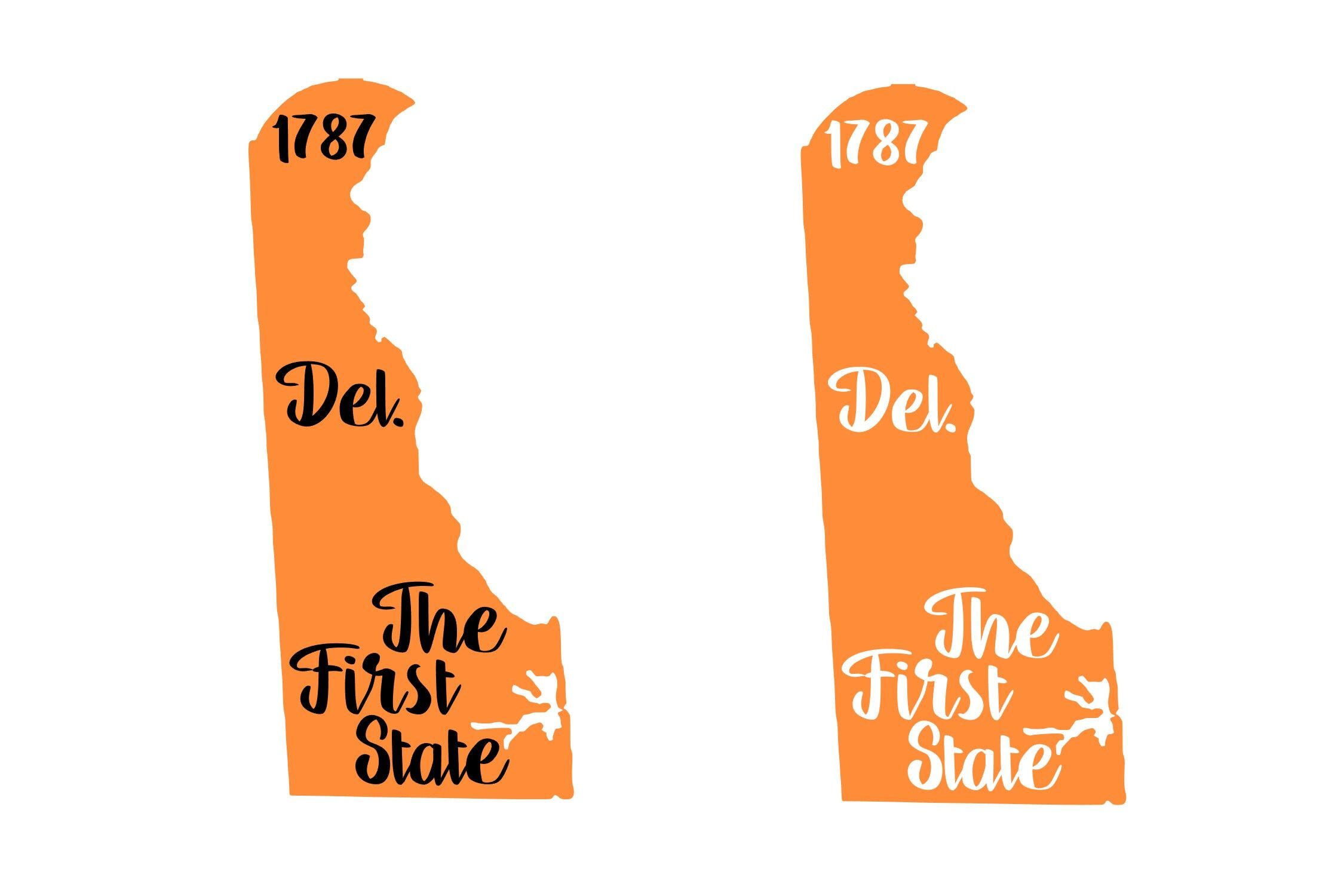 Delaware State Nickname Est Year 2 Files Svg Png Eps By
