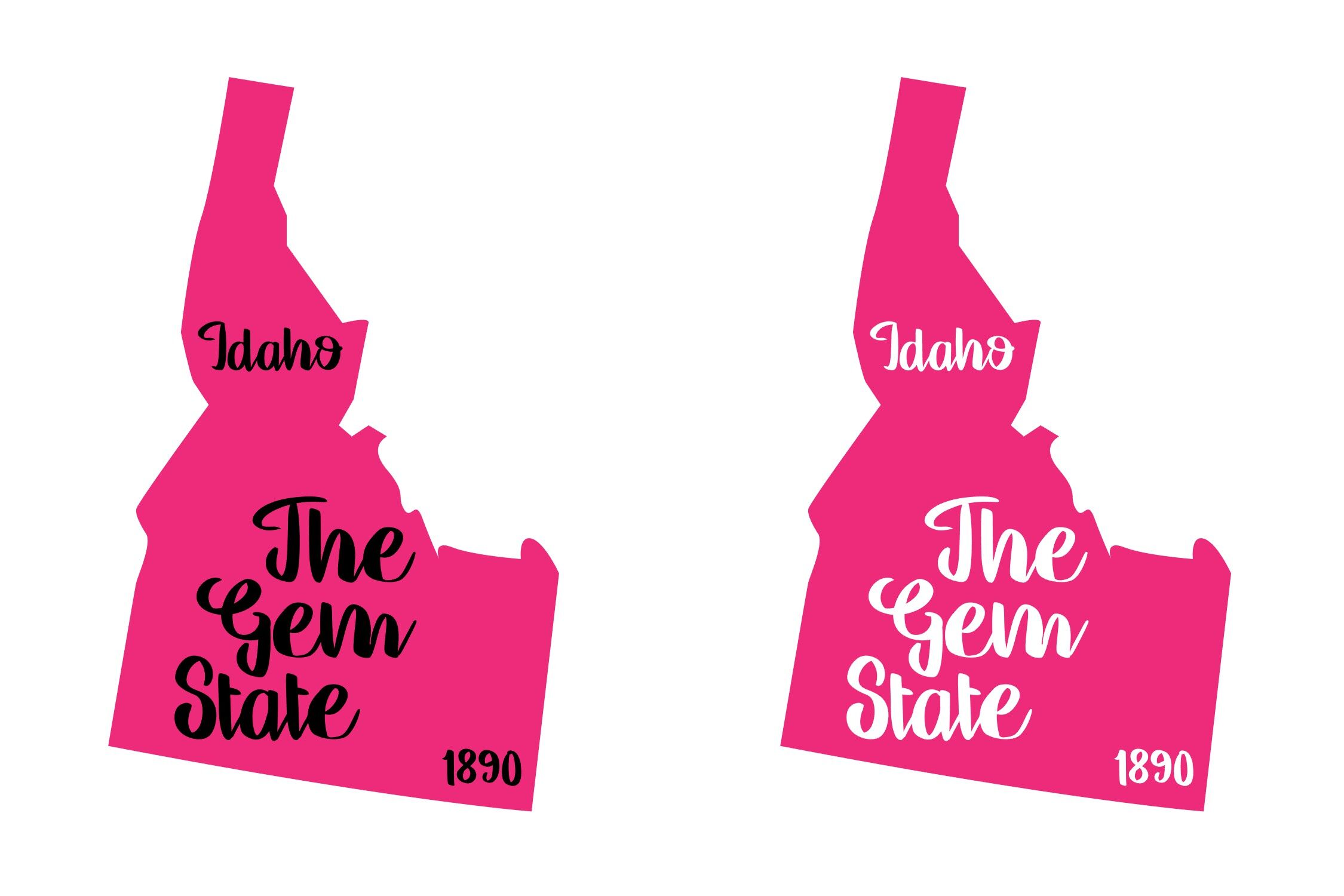 Idaho State Nickname Est Year 2 Files Svg Png Eps By