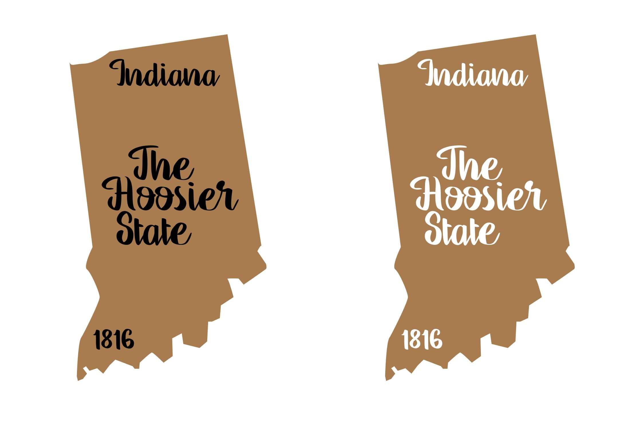 Indiana State Nickname Est Year 2 Files Svg Png Eps By