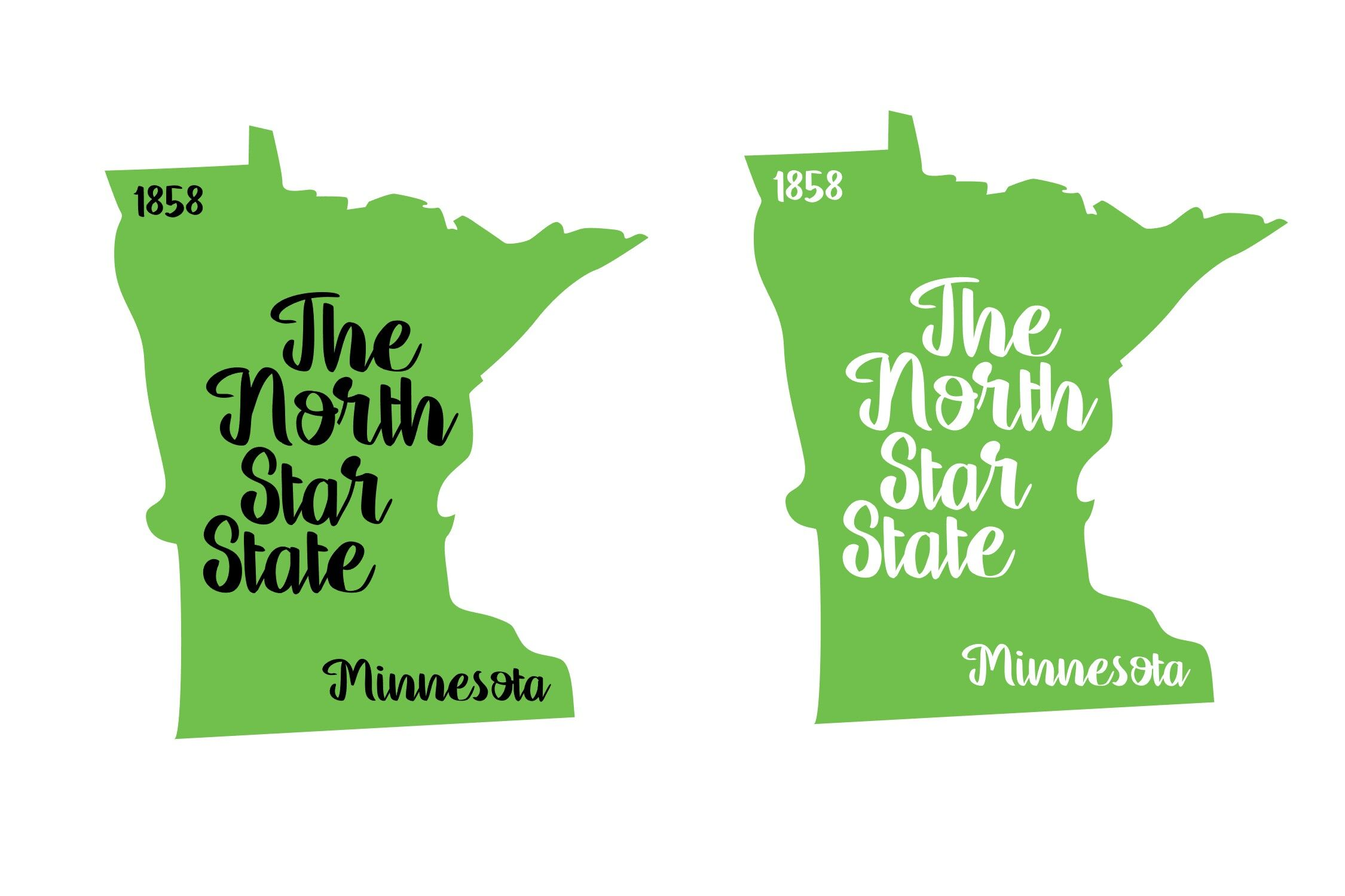 Minnesota State Nickname Est Year 2 Files Svg Png Eps By